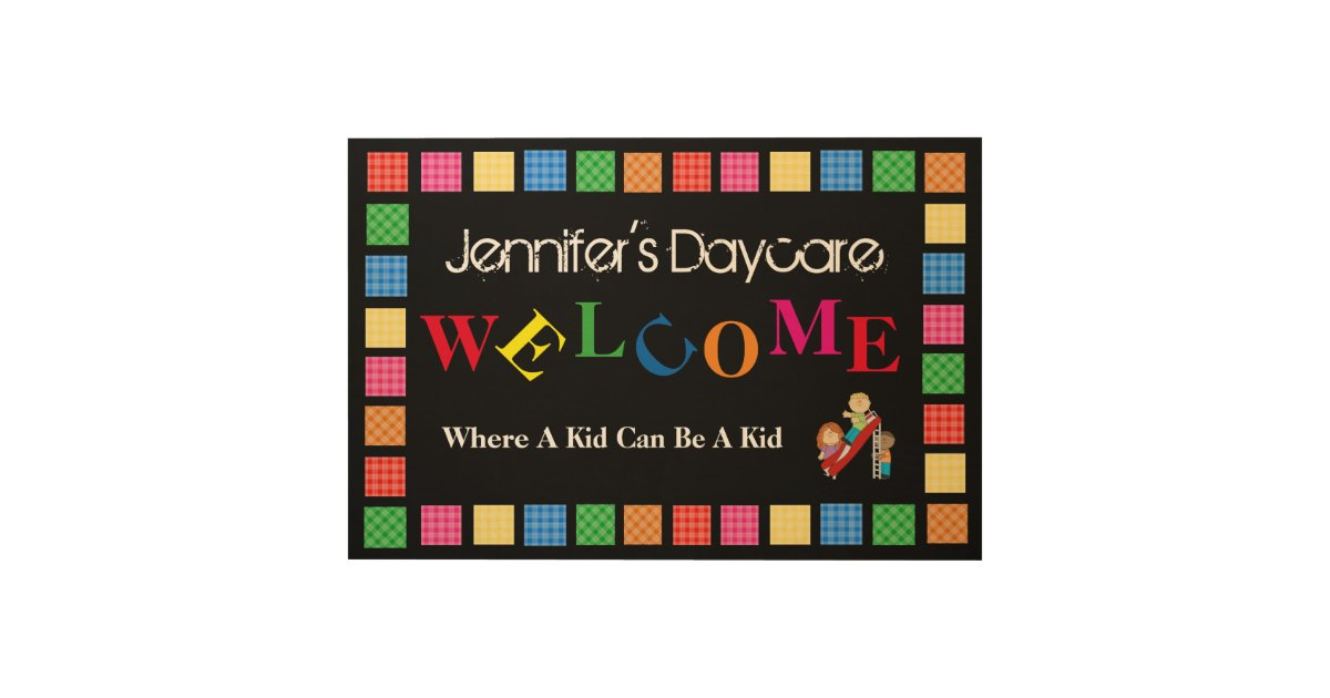 Personalized Daycare/Business Welcome Sign Wood Wall Decor ...