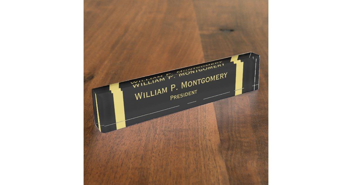 Office Desk Name Plates
