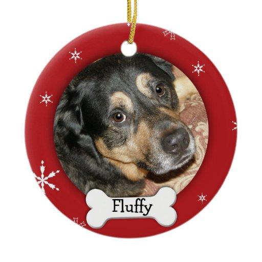 Personalized Dog/Pet Photo Holiday Christmas Ornament   Zazzle