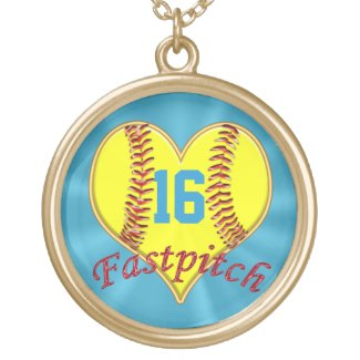 Personalized Fastpitch Softball Jewelry w/ NUMBER
