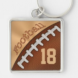 Personalized Football Keychains NUMBER or MONOGRAM