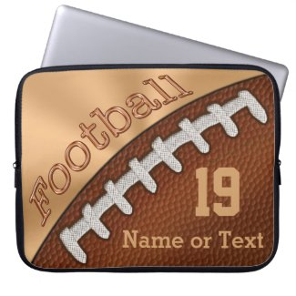 Personalized Football Laptop Case, NUMBER and NAME Laptop Sleeve