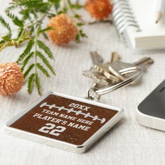 Personalized Football Senior Gift Ideas, Keychains