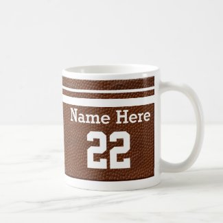 Personalized Football Team Mugs NAME and NUMBER