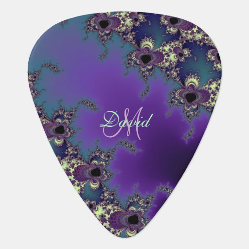 personalized fractal design custom guitar pick zazzle. Black Bedroom Furniture Sets. Home Design Ideas