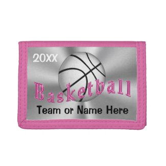 Personalized Gifts for Girls Basketball Team NAME Wallet