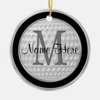 Personalized Golf Gifts for Men, Golf Ornament