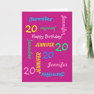 20th Birthday Cards Zazzle