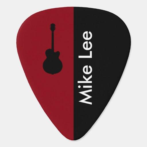 personalized guitar star guitar pick zazzle. Black Bedroom Furniture Sets. Home Design Ideas