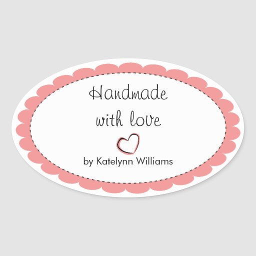 Personalized Handmade With Love Sticker Seals | Zazzle