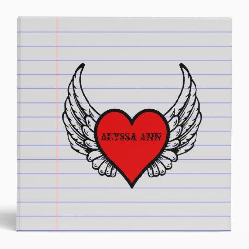 Wings Binders, Custom Wings 3 Ring Binder Designs