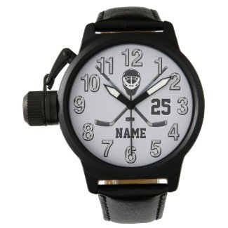 Personalized HOCKEY Watches Your Name and Number
