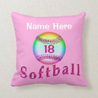Personalized KEEP CALM AND PLAY SOFTBALL Pillows
