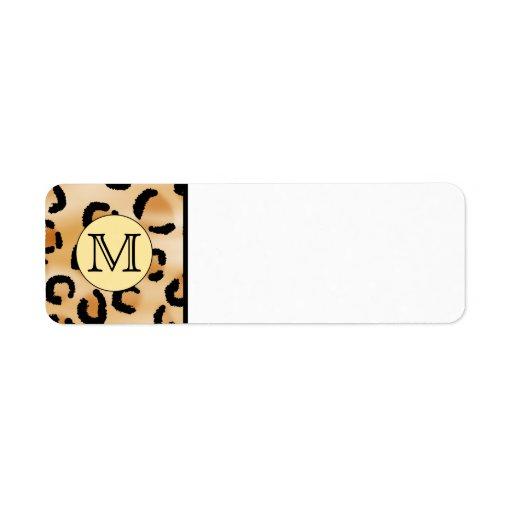 monogram return address labels templates. Black Bedroom Furniture Sets. Home Design Ideas