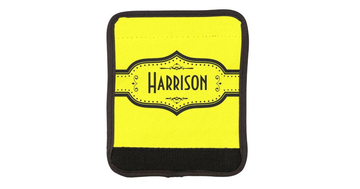 Personalized Name Yellow Luggage Handle Wrap Zazzle