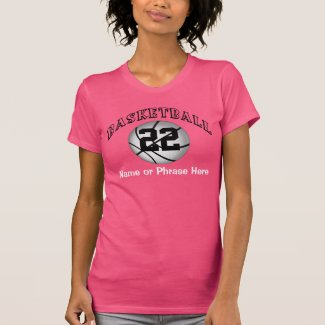 Personalized Numbered Womens Basketball Tshirts