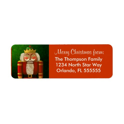 Personalized Nutcracker Return Address Labels