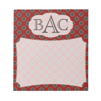 Personalized Pattern Notepad