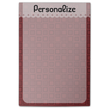 Personalized Pattern Sticky Notes (4x6) Post-it® Notes