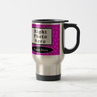 Personalized Photo Coffee Travel Mugs Pink Mosaic