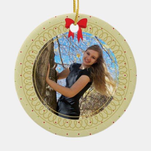 Personalized Photo Frame Graduate Gift Ceramic Ornament