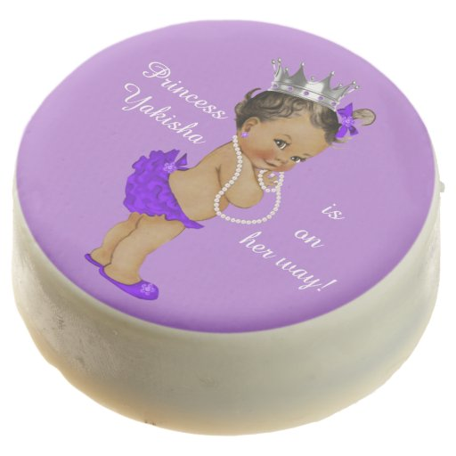 Personalized Purple Ethnic Princess Baby Shower Chocolate