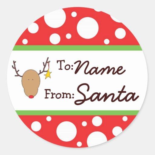 Personalized Santa Gift Sticker Zazzle