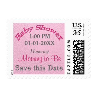 Personalized SAVE the DATE Baby Shower Stamps