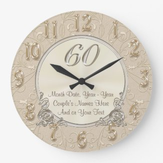 Personalized Sixtieth Anniversary Gifts, CLOCK