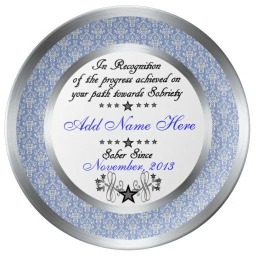 Personalized Sobriety Recognition Amp Award Plate Zazzle