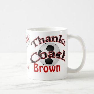 Personalized Soccer Coach Gifts NAME, TEAM, YEAR