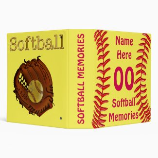 Personalized Softball Binder for Player's Memories