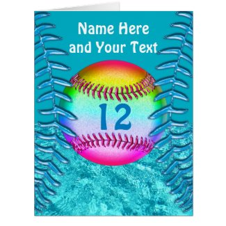 Personalized Softball Cards for ANY Softball Party