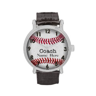 Personalized Softball Coaches Watch with NAME