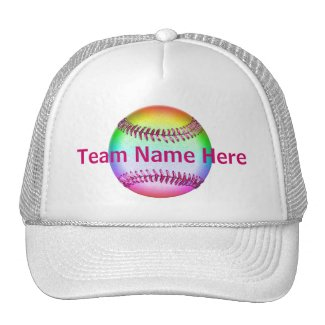 Personalized Softball Hats with YOUR TEAM NAME