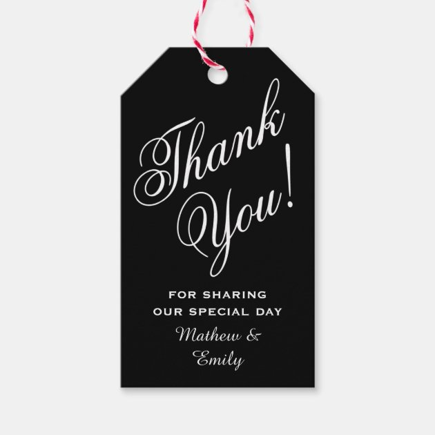 Personalized Thank You Wedding Favor Pack Of Gift Tags 1 3