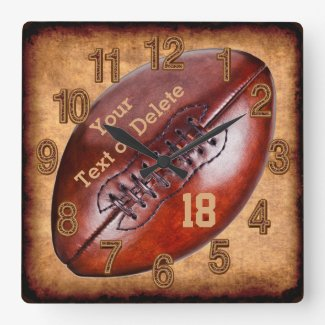 Personalized Vintage Football Clock