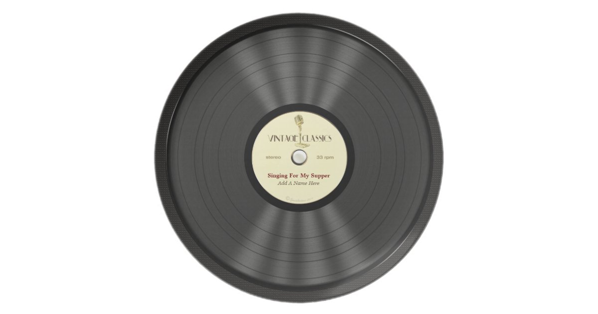 Personalized Vintage Microphone Vinyl Record Plate Zazzle