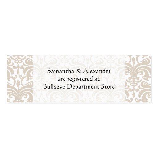 Gift Registry Cards In Wedding Invitations: Personalized Wedding Gift Registry Cards Insert