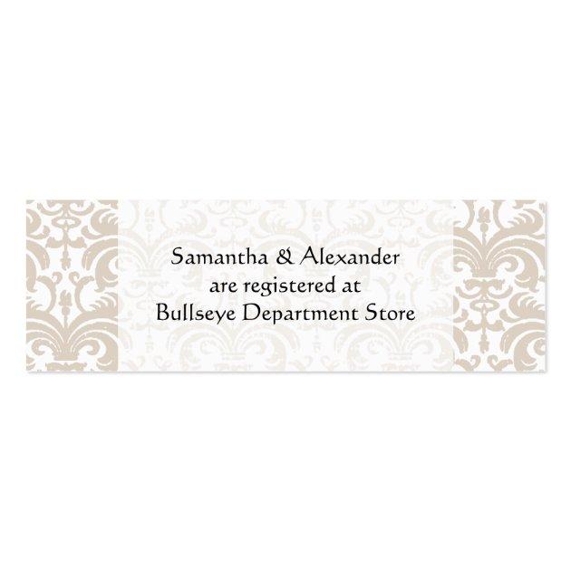 Gift Registry Cards In Wedding Invitations: Personalized Wedding Gift Registry Cards Insert Business