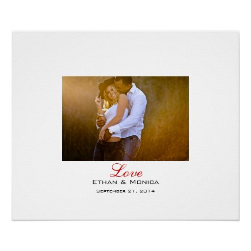 Personalized Wedding Canvas: Personalized Wedding Signature Canvas Poster