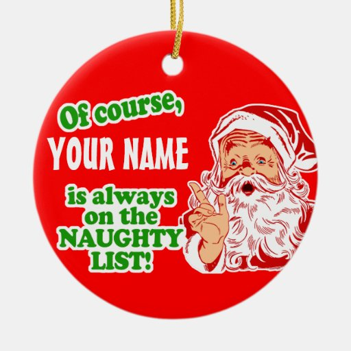 Christmas Decorations With Names On Them: Personalized YOUR NAME Christmas Christmas Ornament