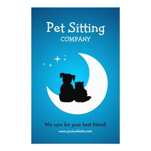 Pet Care Pet Sitting Business Flyer Zazzle