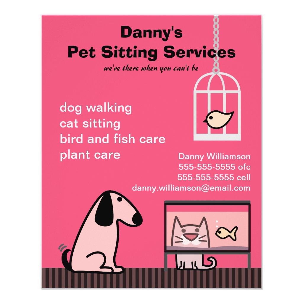 ideas for pet sitting flyers autoblogger pet sitter s dog amp cat red ideas for pet sitting flyers