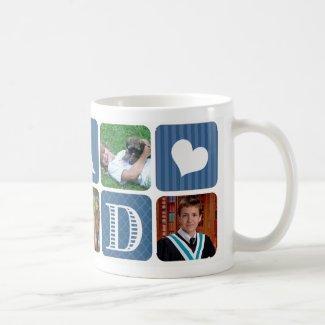 Photo Collage Blue Classic White Coffee Mug