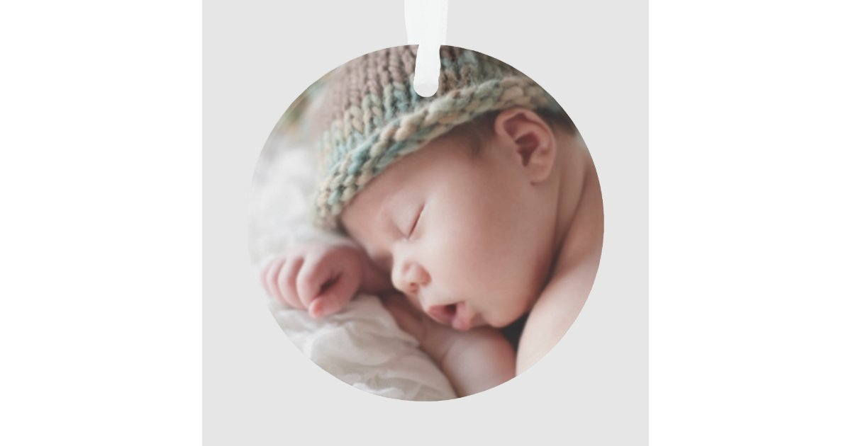 Photo Ornament | Baby Boy First Christmas | Zazzle