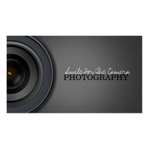 Photography Business Card Templates Free: Photography Double-Sided Standard Business Cards (Pack Of