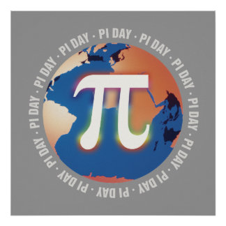 Pi Day On Earth Math Poster