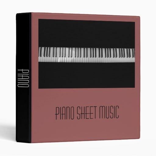 Piano Sheet Music Student Folder Portfolio Binder Zazzle