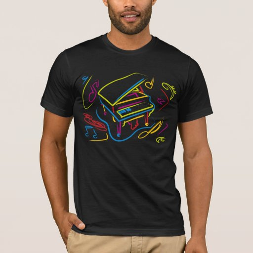 Colorful Piano Abstract T-Shirt